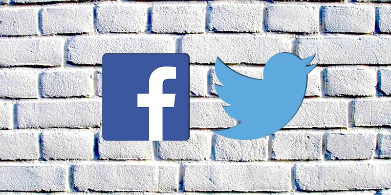 Twitter y Facebook cambian el contenido del muro